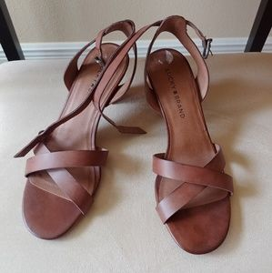 Lucky Brand faux leather heels